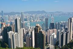 Hazy Hong Kong (Mondmann) Tags: china travel hongkong haze asia view prc thepeak hazy viewpoint victoriapeak victoriaharbor peoplesrepublicofchina mondmann nikond7100