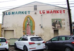 LA in Autumn - Off Sunset - Guadelupe Market Mural (ramalama_22) Tags: la los angeles echo park gloomy atumn sunday sunset boulevard wall mural painting market mercado guadelupe virgen virgin