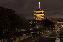 Pagoda (Teruhide Tomori) Tags: 教王護国寺 東寺 京都 世界遺産 日本 五重塔 夜景 ライトアップ lightup night pagoda temple kyoto japan japon landscape worldheritage tojitemple architecture woodenbuilding construction