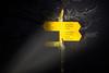 pocket lamp hike... (Toni_V) Tags: m2402656 rangefinder digitalrangefinder messsucher leica leicam mp typ240 type240 28mm elmaritm12828asph elmaritm hiking wanderung randonnée escursione jurahöhenweg night nacht taschenlampe ledlenser sign wegschild wanderweg switzerland schweiz suisse svizzera svizra europe challhöchi solothurn iso2500 ©toniv 2016 161229 fog mist nebel pocketlamp