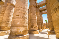 Karnak Temple (ibisegypttours) Tags: building religion hieroglyph sculpture symbol history sign african column blue wall art hieroglyphics travel ruins worship old amun ancient complex past antique stone ramses carving yellow sky sandstone culture thebes statue architecture outdoors writing tourism palm civilization north pharaoh archeology obelisk monument museum egyptian landmark africa egypt luxor temple karnak