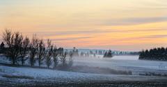 Brrr (Team Hymas) Tags: ground fog snow designer dusting sunset ridgefield washington