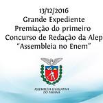 Premiação do Concurso de Redação da Alep 13/12/2016