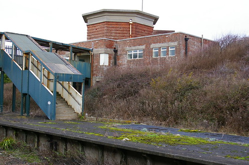 17-025  Bishopstone Station - four of five;  the rear of the station building