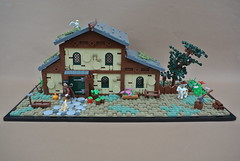 9 Kingdoms Cottage (-Balbo-) Tags: lego moc brandküste creation bauwerk rohan lordoftherings herr der ringe balbo