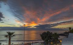 Tenerife Sunset December 21st (nicklucas2) Tags: tenerife costaadeje seascape sea cloud cloudsstormssunsetssunrises sunset palm travel