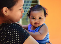 That smile tho... 😍 what a cutie... (Leitratista) Tags: child kid niece babygirl lovephotography nikon d3400 hobby learnphotography portraiture mother motherhood motherandchild motherslife love happy smile cute nikonshots photosnap capture nikoncapture kitlens 1855mmafpvrkit