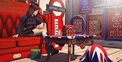 Afternoon chill (meriluu17) Tags: sl boudoir sweetlies london england english oxford red blue chill rest girl baby schoolgirl flag lunchbox light frame frames underground indoor people sweet magic