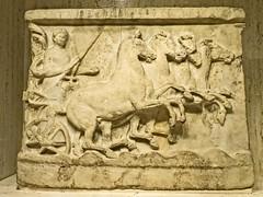 Relief depicting Helios driving a quadriga chariot Greek southern Italy 400 BCE Marble (mharrsch) Tags: relief sculpture helios deity god religion myth chariot quadriga greek italy ancient 5thcenturybce nelsonatkins museum kansascity missouri mharrsch horse