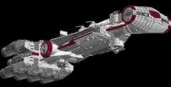 CR90 Corvette IV 1s=m: Update (picardsbricks) Tags: lego starwars rogueone anewhope cr90 corvette alderaan tantiveiv