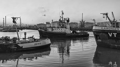 2e Petroleumhaven 6 (Rens Timmermans) Tags: canon5dmk3 tamronsp2470mmf28 havens rotterdam rijnmond wegenwaterbouw water blackwhite niksilverefexpro avondfotografie
