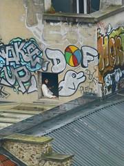 Mon Paris. (caramoul25) Tags: paris fenêtre streetart toits pluie caramoul25