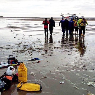 Rescue of a horse Faller at Sker Beach