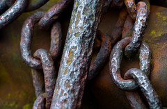 Old Corroded Rusted Anchor & Chain 1 of 2 (Orbmiser) Tags: 70300vr d90 nikon oregon portland winter iron metal chain links anchor rusted corroded