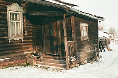 2 (ermolindaniil) Tags: film cosinact1a pentacon50mmf16 russia country derevnia russkaya decay beautiful log house old winter frostwork