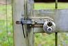 high security (lumofisk) Tags: kabelbinder schlos tor zaun cableholder chrome depthoffield door fence green latch lock rust ziptie nikondf 0mmf0 50mm details