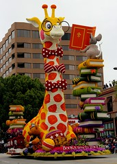 The UPS Store :  Books Bring Us Together (Prayitno / Thank you for (12 millions +) view) Tags: konomark tor tournament roses rose parade pasadena ca california humor cartoon anime animal floral flower decoration float entry read books outdoor day time cloudy la los angeles