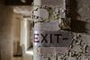 Exit (sj9966) Tags: abandoned derelict decay peeling paint exit signage ww2 1940s canon eos 6d sj996 switch vintage urban exploration urbex