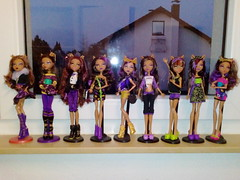 Clawdeen dolls (TheJoJ) Tags: monster high clawdeen mattel dolls collection