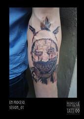twisty (MiMuSa Tattoo) Tags: tattoo portrait tatuaje payaso twisty americanhorrorstory serie ink color colour