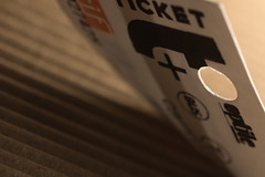"""Des p'tits trous , des p'tits trous ..."" (sdupimages) Tags: inspiredbyasong macromondays hole trous tamron macro underground subway chanson serge gainsbourg song metro ticket"