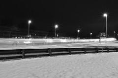 Ghost Highway (seanbeebe_photo) Tags: gardenstateparkway night route9 nj tomsriver blackandwhite longexposure traffic lightstreak