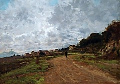 """Old Vomero"" (1892) by Attilio Pratella (Lugo di Romagna 1856-Naples 1949) - ""The hidden art treasures: 150 Italian masterpieces"" - Exhibition up to May 28, 2017 in Naples (Carlo Raso) Tags: vomero naples italy attiliopratella"
