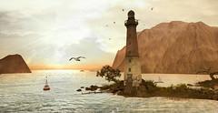 timeless..... (Lara`s Impressions) Tags: sky dove sun sea breeze smell light coast feel