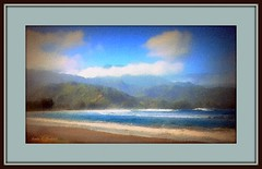Hawai'i beach (edenseekr) Tags: hawaii sandy beach photopainting digitallypainted
