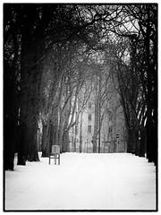 Le château (M.G6) Tags: château deau boîte aux lettres neige rue enneigée stop arbre hiver