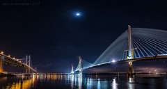 You Cannot Be Sirius (ianrwmccracken) Tags: sirius night queensferry bridge water moon lowlight star structure sea fife scotland orion taurus pleiades riverforth reflection engineering nikond750 sky constellation