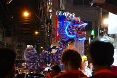Dragon goes into a bar on Chinese Lunar New Year - Bangkok (ashabot) Tags: lunarnewyear bangkok thailand bangkokstreetscene peopleoftheworld dragon night nightshots nightlights nightlife internationalcities travel seetheworld