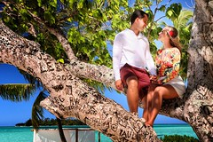 The Carved tree at the Pearl Beach (BoraBoraPhotosVideos) Tags: borabora island paradise southpacific sun beach sunrise amazing dream holydays beautiful bestvacations photooftheday picoftheday photodujour wedding tahiti polynesian edouardott