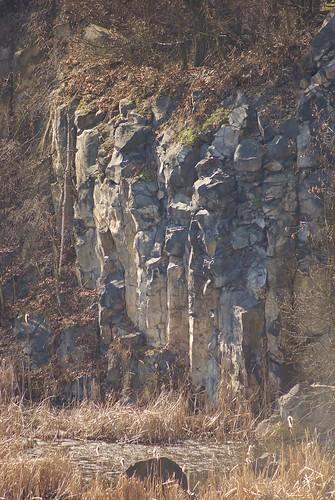 Żółkiewka quarry - basalt columns