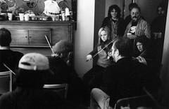 Lisa MacArthur, Gerry Strong, Paul Cranford, Fergus O'Byrne, Dave Mahalik, Tom Knapp – Festival Club Green Room – October 2003 (photo: Brian Wunder)