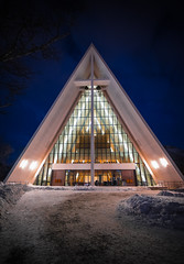 arctic cathedral (anthony.vairos) Tags: tromso norway norvège cathedral arctic arctique cercle polaire travel blue hour light nikon d750 fullframe pleinformat manfrotto irix 15mm f24 blackstone lightroom photoshop passion beautiful photo photography photographie dslr