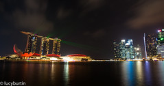 Marina bay by night (explored) (Lucy Burtin) Tags: