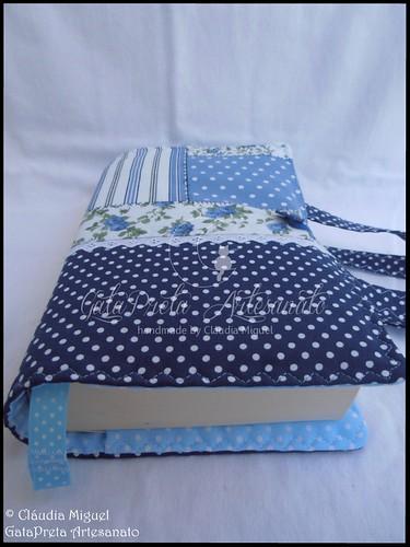 Capa de livros com pega Blue Patch4