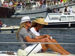 the ladies (gerben more) Tags: woman water amsterdam boats boat women legs sail cowboyhat