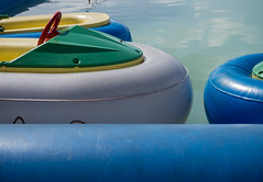 Bumper boats (S's images) Tags: blue red summer abstract green pool boats grey seaside shapes bumper boating primary bognor yello regis dingy