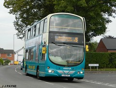 Sunday 5 on diversion (3) (J.J.Pay 8581) Tags: uk bus 5 leicester wright gemini midlands arriva vdl syston yj56kfc