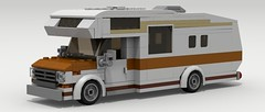 Ford Econoline Camper (LegoGuyTom) Tags: city classic ford home digital america vintage lego pov designer american legos download motor van 1970s 1980s camper motorhome v8 dropbox povray econoline ldd lxf legocity legodigitaldesigner 1980's