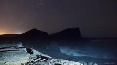 Earthbreak (D148311 (icelander) Tags: ocean city winter sky cloud lighthouse abstract black texture night dark out lights volcano iceland outdoor background aurora serene polar universe reykjanes milkyway daybrake reykjanest