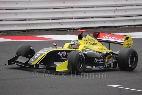 Philo Paz Patrick Armand in the Formula Renault 3.5 Saturday Race at Silverstone