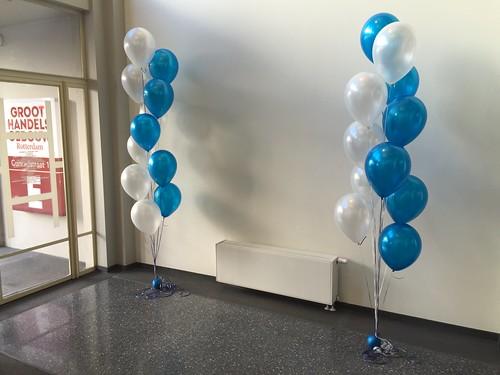 Tafeldecoratie 11 ballonnen Gronddecoratie Mercer Rotterdam