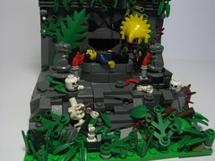 sacrifice (Militarymocs) Tags: rainforest lego explorer sacrifice brickarms recentmocs