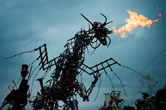 The Dragon (gambajo) Tags: art animals dark fire scary artwork dragon reptile roboter