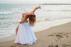 Belly Dance ( Roco Ponce) Tags: girls light beautiful beauty mar dance model young playa bellydance client sitges velas seminude orilla beatch rocioponcephoto