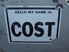 Cost, New York, NY (Robby Virus) Tags: hello street nyc newyorkcity ny newyork adam art paper graffiti flyer cole manhattan wheatpaste name cost pasted bigapple