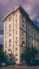 Baltimore Building in DXO (seikoesquepayne) Tags: film haze shift olympus baltimore faux f18 tilt em1 tiltshift 17mm vsco